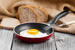 Fried egg in a frying pan, Stock Photos