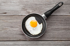 Fried egg in a frying pan Stock Image