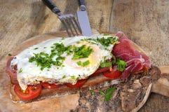 Fried egg & Ham Royalty Free Stock Photography