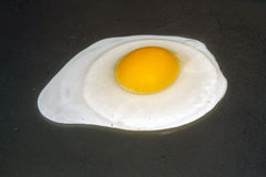 Fried Egg on hot plate Royalty Free Stock Photos