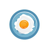 Fried Egg Icon Photographie stock
