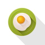 Fried egg icon. Royalty Free Stock Image