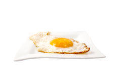 Fried Egg In A Bowl Stock Photos