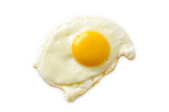 Fried egg isolated Royalty Free Stock Photo