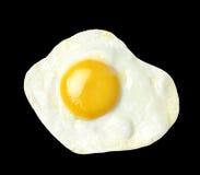 Fried egg isolated on black background Stock Image