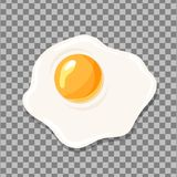 Fried egg isolated. Egg vector icon. Fried egg isolated on checked background. Egg vector icon Stock Photography