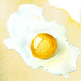 Fried egg isolated Royalty Free Stock Photos