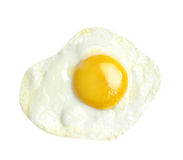 Fried egg isolated on white background Royalty Free Stock Photo