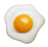Fried egg isolated Stock Photos