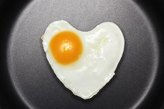 Fried egg like heart Royalty Free Stock Photos
