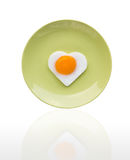 Fried egg like heart Royalty Free Stock Image