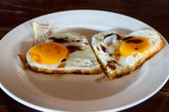 Fried egg lover Royalty Free Stock Photography