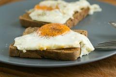 Fried Egg no brinde Fotografia de Stock
