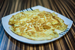 Fried Egg Omelette. On a plate Stock Photos