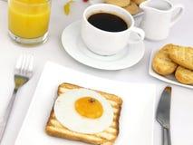 Fried Egg On Toast Royalty Free Stock Photos