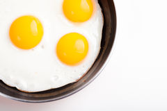 Fried egg in pan Stock Photos