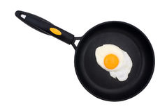 Fried Egg in a pan Stock Photography