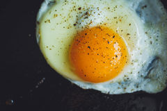 Fried egg on the pan Royalty Free Stock Photo