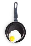 Fried egg in a pan. Stock Image