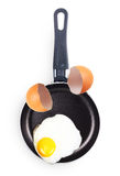 Fried egg in a pan. Stock Photography