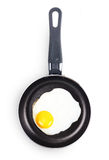 Fried egg in a pan. Royalty Free Stock Photos