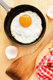 Fried egg in pan Stock Photo