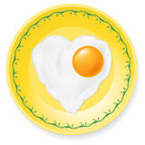 Fried egg on plate Stock Photos