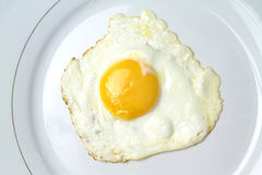 Fried egg on  a plate Royalty Free Stock Image