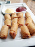 Fried Egg Rolls Stock Image