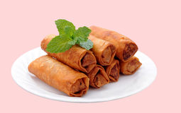 Fried egg rolls Royalty Free Stock Photos