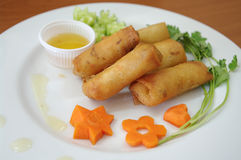Fried Egg Rolls Royalty Free Stock Photography