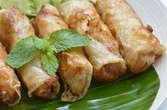 Fried Egg Rolls de la cocina vietnamita Fotografía de archivo libre de regalías