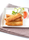 Fried Egg Rolls Royalty Free Stock Images