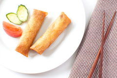 Fried Egg Rolls Stock Photo
