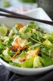 Fried Egg Salad Stock Photo
