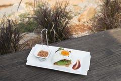 Fried Egg Sandwich Imágenes de archivo libres de regalías