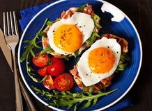 Fried egg sandwich breakfast meal Royalty Free Stock Photo