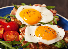 Fried egg sandwich breakfast meal Royalty Free Stock Images
