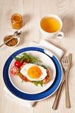 Fried egg sandwich breakfast meal Stock Image