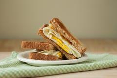 Fried Egg Sandwich on Whole Grain Toast Royalty Free Stock Photo