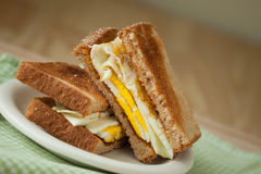 Fried Egg Sandwich on Whole Grain Toast stock photography