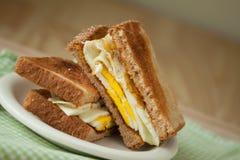 Fried Egg Sandwich on Whole Grain Toast Stock Photography