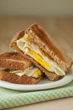 Fried Egg Sandwich on Whole Grain Toast stock image