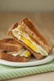 Fried Egg Sandwich on Whole Grain Toast Stock Image