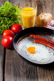 Fried egg. Royalty Free Stock Photography