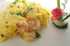 Fried Egg Shrimp Stock Images