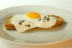 fried egg on soda bread Royalty Free Stock Photo