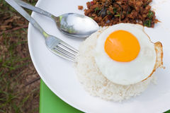 Fried egg and spicy food,Thailand food Stock Photos