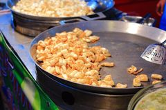 Fried egg squid Stock Photo