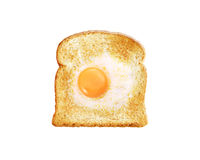 Fried egg with toast Stock Images